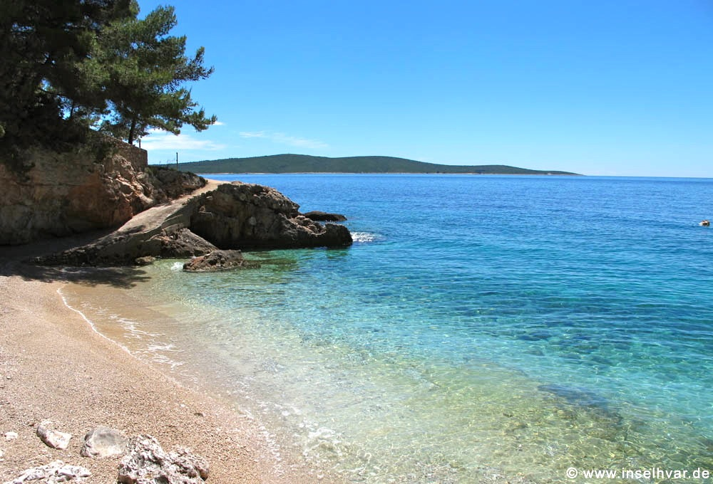 vacation rentals island Hvar, only a few meter away from this beach.